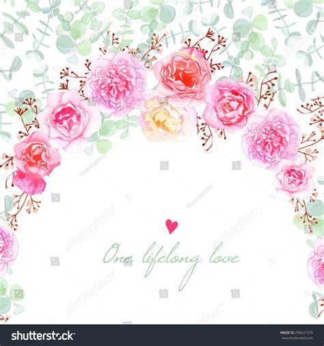 shabby chic wedding invitation templates wedding flowers vector card invitation template stock