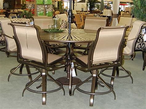bar height patio dining set bar height patio furniture sets patio dining set