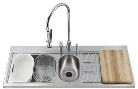 two sinks in the kitchen kohler k 3326r 3 na pro taskcenter basin kitchen