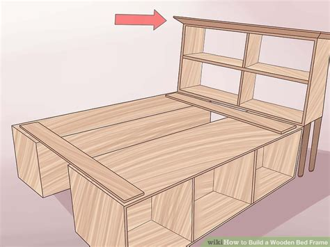 make bed frame 3 ways to build a wooden bed frame wikihow
