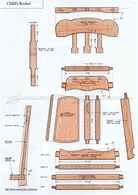 rocking chair woodworking plans rocking chair plans woodarchivist