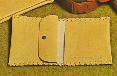 como hacer carteras de cuero patrones de carteras de cuero artesanales imagui