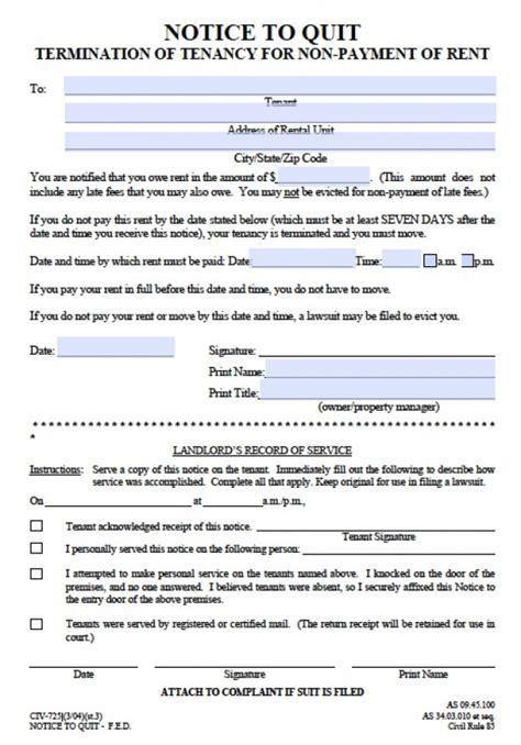 free alaska seven 7 day notice to quit civ 725 pdf