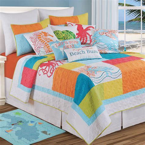 bright bedding tropic escape bright coastal quilt bedding
