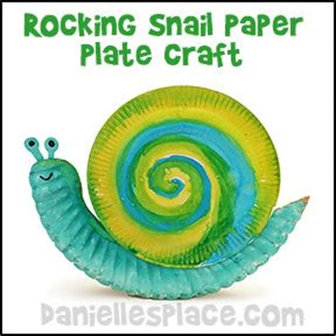 snail paper plate craft rocking snail paper plate craft for from www