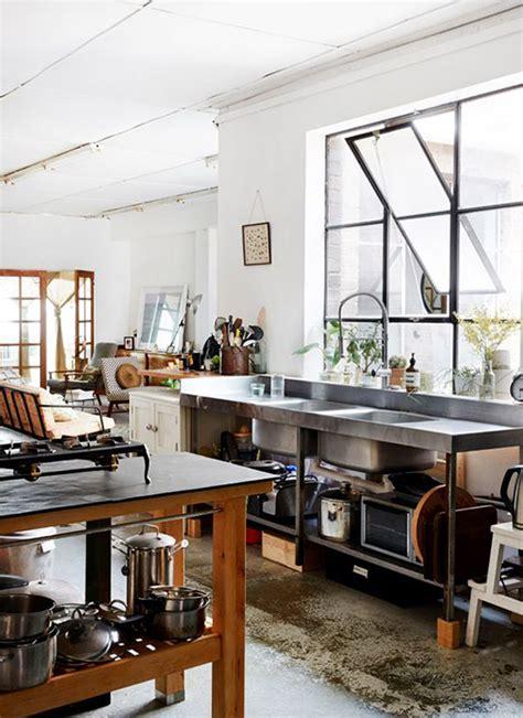warehouse kitchen design cool and minimalist industrial kitchen design home