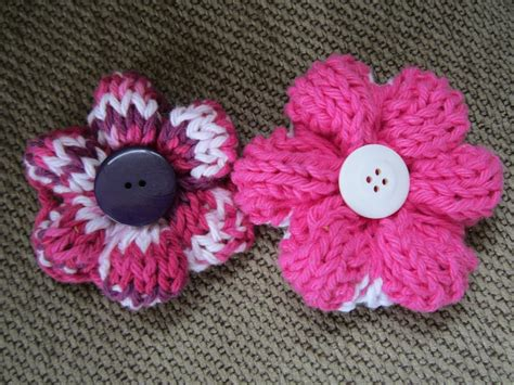 how to knit a flower knit flower pattern a knitting