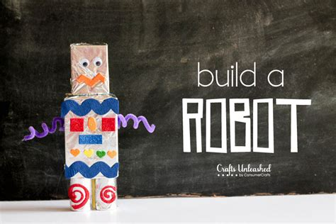 how to make kid crafts how to make a robot for craft tutorial