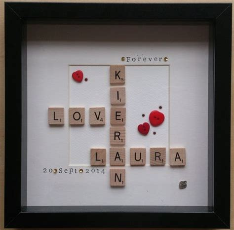 unique scrabble words word wooden scrabble tile box frame personalised gift
