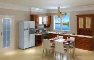 interior design for kitchen room kitchen and dining room interior layout 3d house