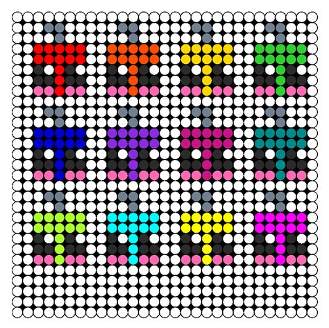 kawaii perler bead patterns kawaii ornaments perler bead pattern bead sprites