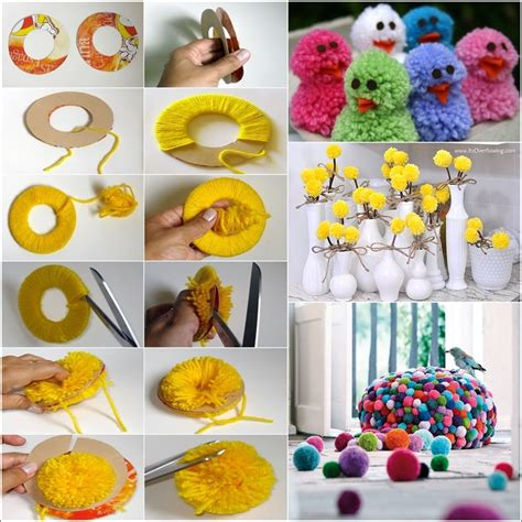 craft things for learn how to make pom poms and craft decorative items from