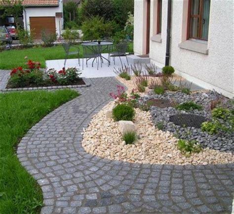 außenanlagen gestalten beispiele vorgartengestaltung mit kies 15 vorgarten ideen