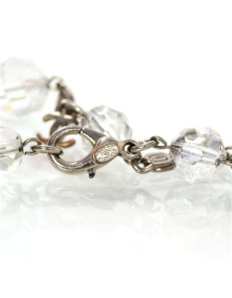 clear bead bracelet chanel clear bead cc charm bracelet for sale at 1stdibs