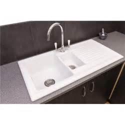 kitchen sink pack reginox rl301cw 1 5 bowl white ceramic reversible kitchen