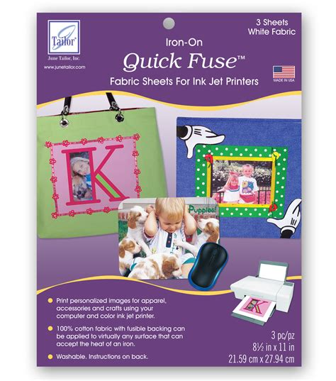 how to iron fuse june tailor fuse inkjet fabric sheets 3 pkg jo