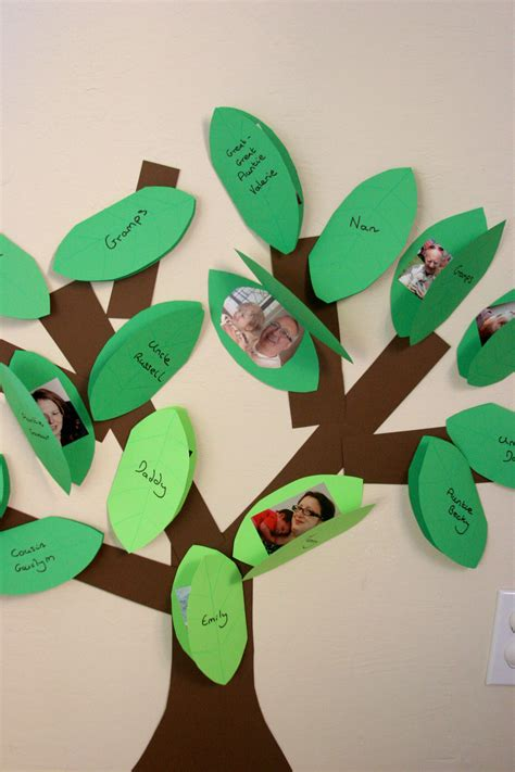 family tree craft project a crafty our family tree pinwheels and stories