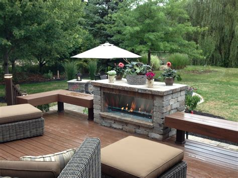outdoor linear gas fireplace northfield fireplace grills pictures