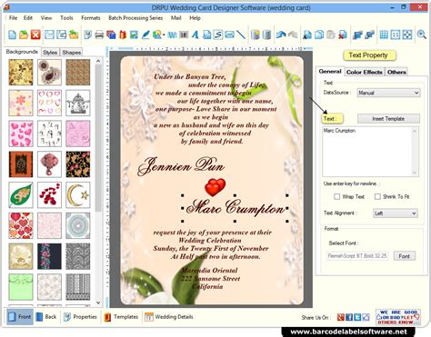 Wedding Card Maker Software Designs Printable Wedding