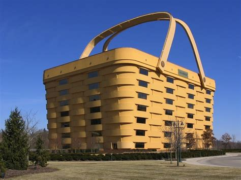 ohio woodworking longaberger s basket building is made of locally