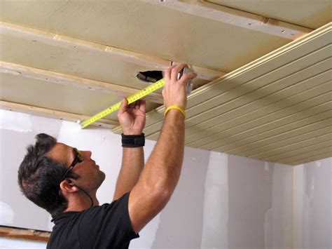 Armstrong Gypsum Ceiling Tiles by How To Install A Tongue And Groove Plank Ceiling How Tos