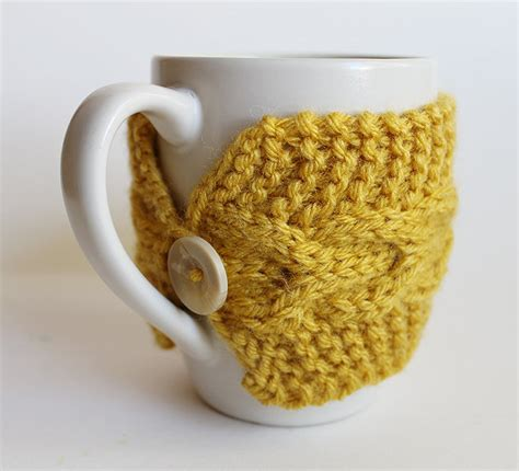 knitted cup cozy pattern artistic knitted cup cozy