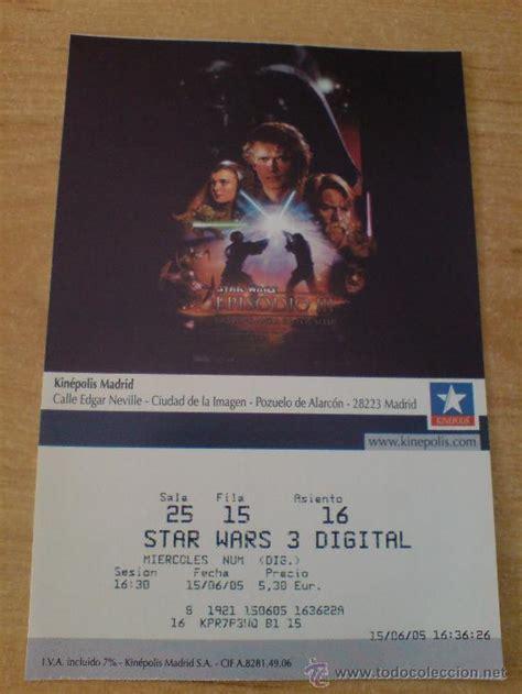 entradas cine online entrada cine pelicula star wars episodio iii comprar