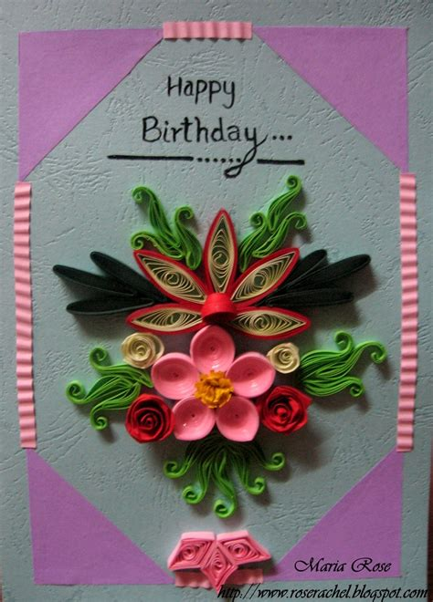 how to make paper quilling cards quilled birthday card quilled birthday cards