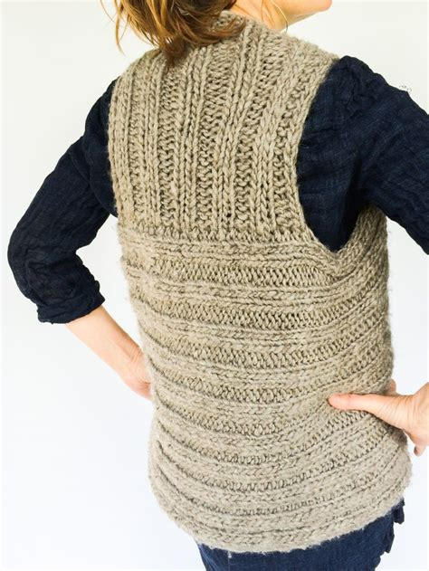 knit patterns for vests in one moto vest side view knit from radius yarn windrush bulky
