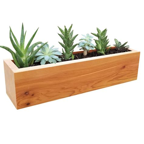 wooden succulent planter gronomics 4 in x 4 in x 16 in succulent planter wood