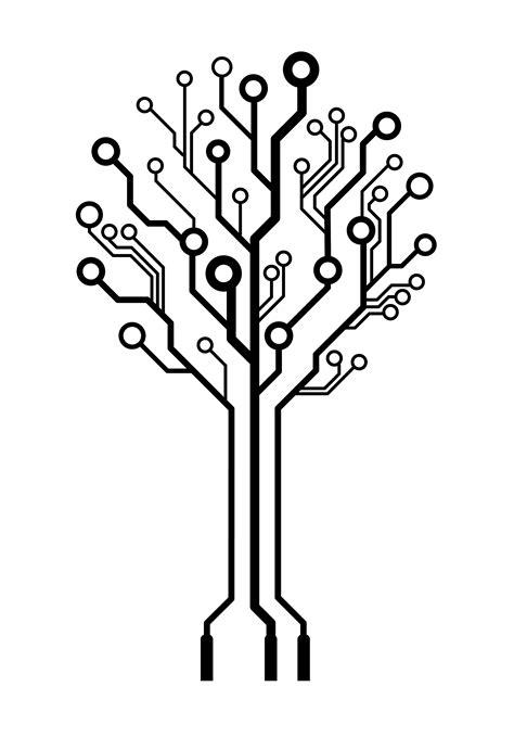 computer tree vector logo circuit board tree flickr photo