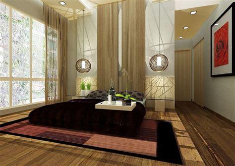 zen style home interior design bedroom in japanese style