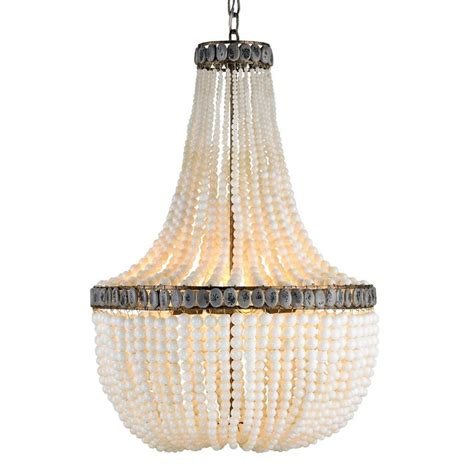 beaded chandelier beaded coastal 3 light chandelier kathy kuo home