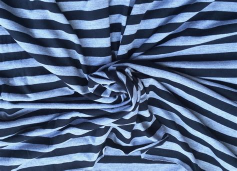 striped knit fabric cotton blend stripe fabric jersey knit by the yard black