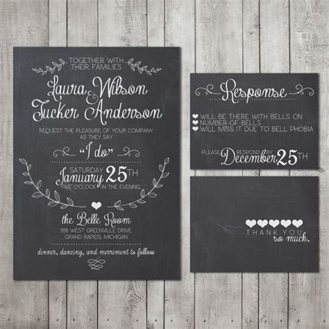 diy chalkboard for wedding wedding invitation suite chalkboard deposit printable