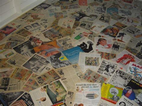 decoupage floor ideas decoupage floor using vintage magazine ads work