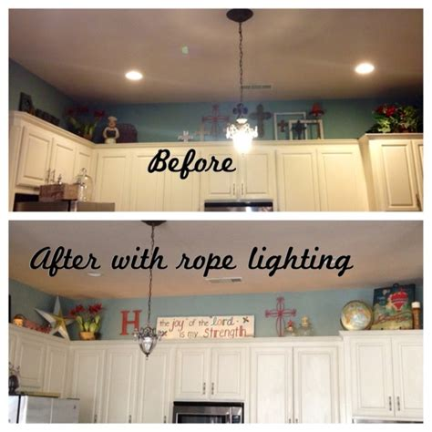 lighting above kitchen cabinets pin by kyla ehrisman on decorating