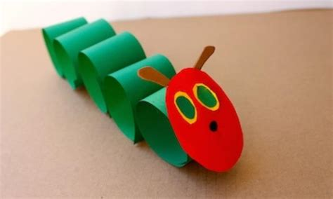 craft made by paper paper craft hungry caterpillar kidspot