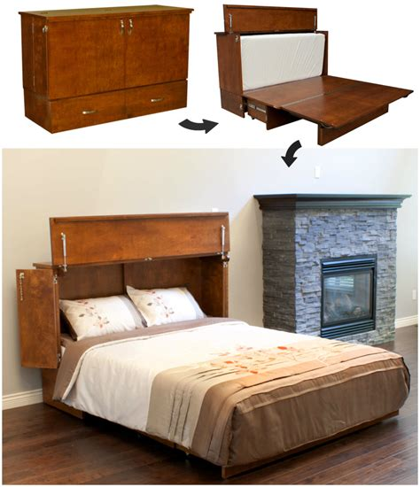 space saving bed this cabinet turns into a bed in seconds living in a shoebox