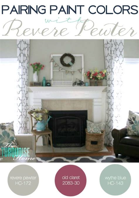 colors that look with grey pairing paint colors with revere pewter the turquoise home