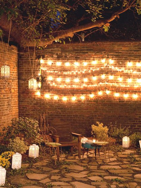 garden string lights photos hgtv