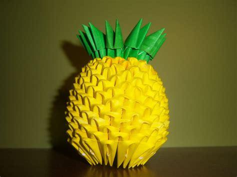 paper pineapple craft 3d origami pineapple by shelbysarrazin on deviantart