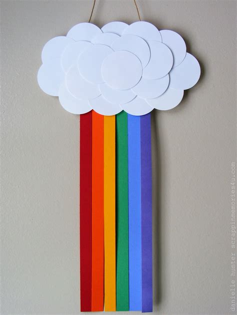 simple craft snap scrap tweet craft idea paper rainbow for