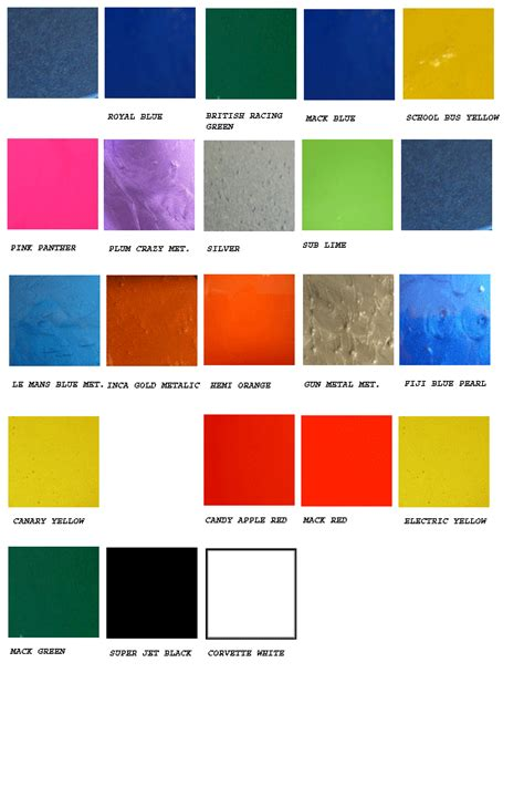 paint colors vehicle ppg motorcycle paint color chart newhairstylesformen2014