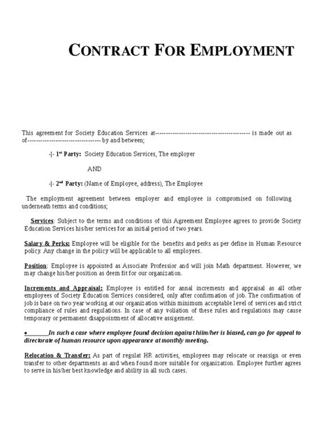 54 sample letter agreement between employer employee cover