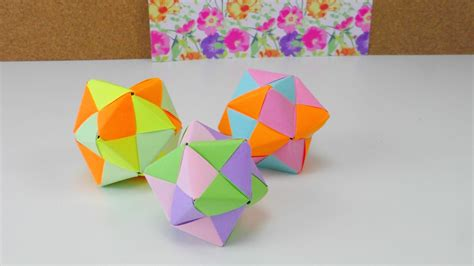 origami sphere tutorial origami falten tutorial modular 12 folding