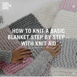 how to knit a blanket step by step knitting pearltrees