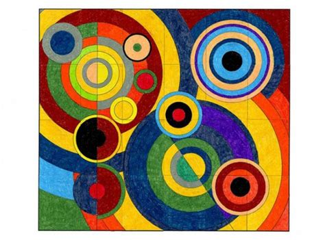 robert delaunay mural art projects for kids