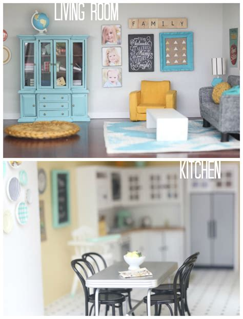 diy living room furniture diy dollhouse living room and kitchen
