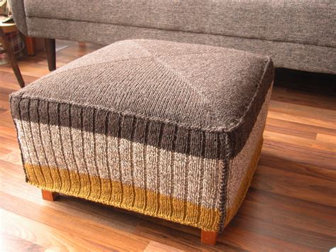ottoman slipcover pattern knitted ottoman cover the knit cafe